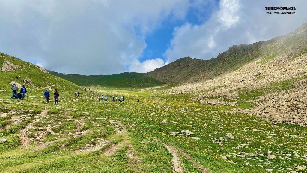 Gangbal Pass - around 4,100 meters above sea level. This will be the last pass we would cross.- Kashmir Great Lakes Trek, Premium